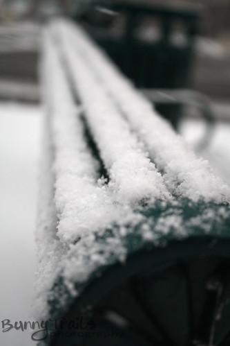 34 - snowy bench
