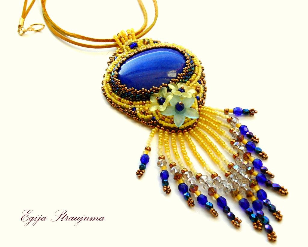 Pendant with Flowers and fringes