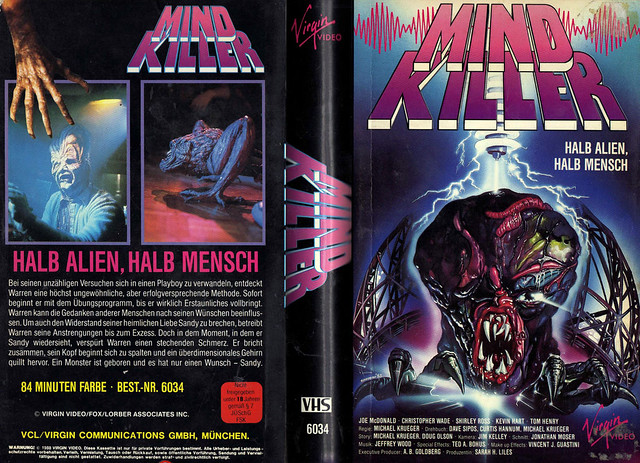 Mind Killer (VHS Box Art)
