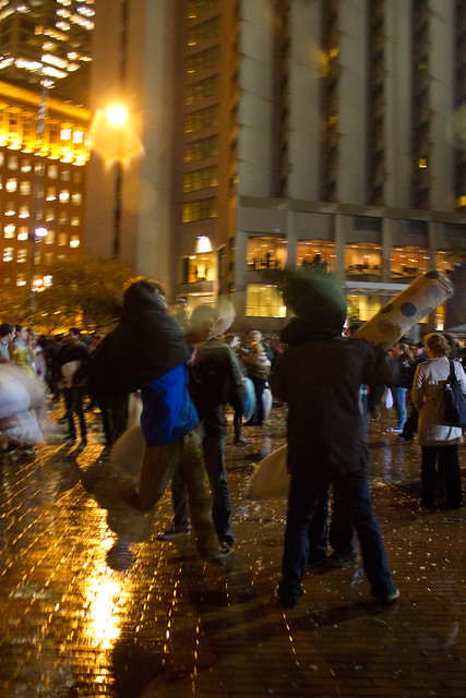 Valentine's Day Pillow Fight 2011: jump attack