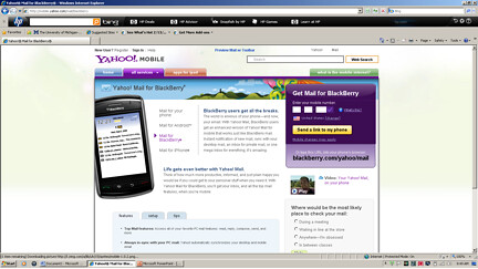 Blackberry Home Page