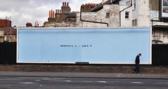 Graffiti 1 - Sofa 0 (by day) (id-iom) Tags: uk england urban london art advertising one graffiti cool stencil paint text spray billboard hoarding sofa advert vandalism nil streatham brixton idiom southcircular graffiti1 billboardtakeover