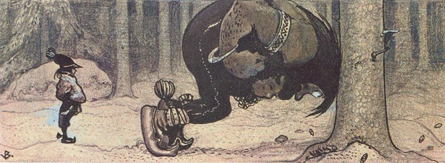 "John Bauer - Finnish folk tale ""Stalo and Kauras"