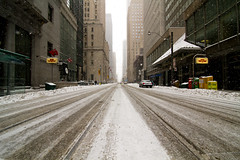 Snowy King Street Vanishing Point, Toronto (Christopher Brian's Photography) Tags: