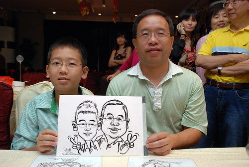 caricature live sketching for OCBC Securities - 6