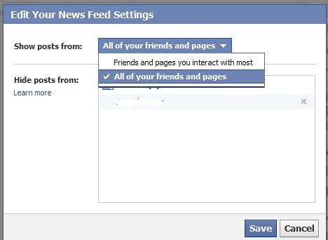 Restore Facebook News Feed