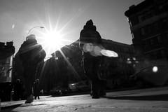 sunburst on amsterdam (Homemade) Tags: people blackandwhite newyork manhattan sunburst amsterdamavenue tamron1750mmf28