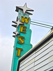 West Theatre, Grants, NM (Robby Virus) Tags: cinema newmexico west sign marquee route66 theater neon theatre movies grants motherroad