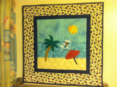 Quilted beach scene