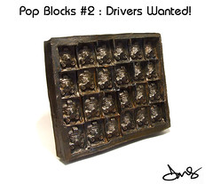 Pop Blocks #2: Drivers Wanted! (DMS One) Tags: sculpture popart andywarhol dms popblocks