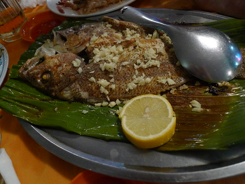 Grilled fish at Top Spot