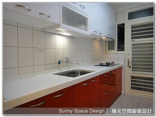 廚具工廠-內湖成功路黃小姐一字型時尚廚房-陽光空間廚衛設計
