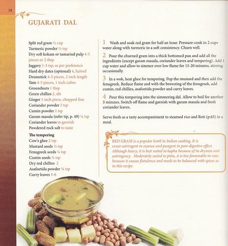 Gujarati dal from Sukham Ayu