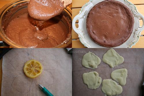 spiegazioni con foto come preparare la torta fondente al cioccolato e limone