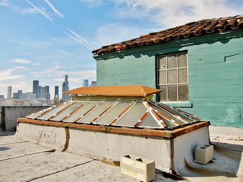 los angeles skyline wallpaper. Rooftop – Downtown LA Skyline