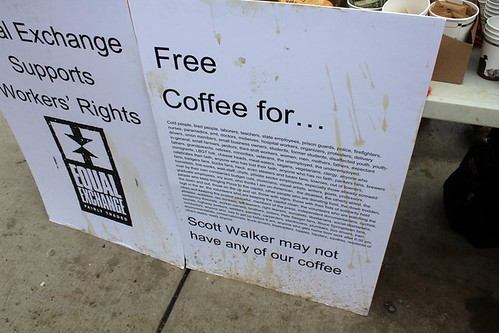 Scott Walker may not have any of our coffee