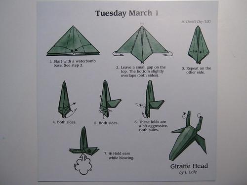 Image Tagged Origami Giraffe Head