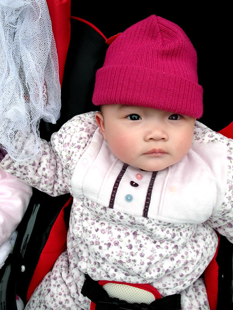Chinese Baby in Red Hat