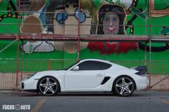 In Color (Pepper Yandell) Tags: auto white black sports car pepper focus perfect porsche cayman modded savani