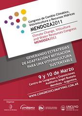 Mendoza: Se presentó el Congreso de Cambio Climático, Vitivinicultura y Recursos Hídricos