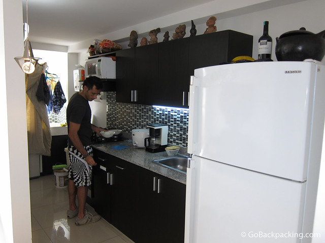 Modern kitchen in a new Poblado apartment
