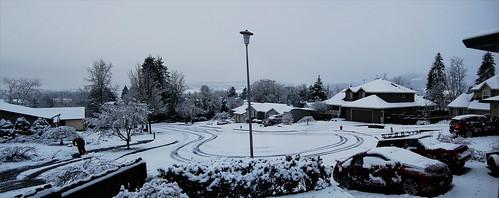 Snow day panarama