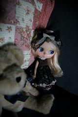 Audrey with her dear Mr.Bear
