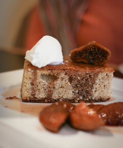 Hazelnut Sponge with Port Poached Figs and Lemon Mascarpone