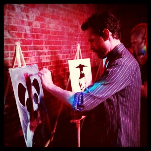 Live art at the Noc Noc! Come watch myself and other talented artists paint.