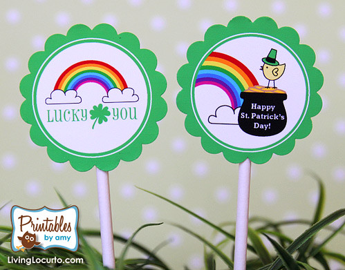 St.Patricks Day Cupcake Toppers