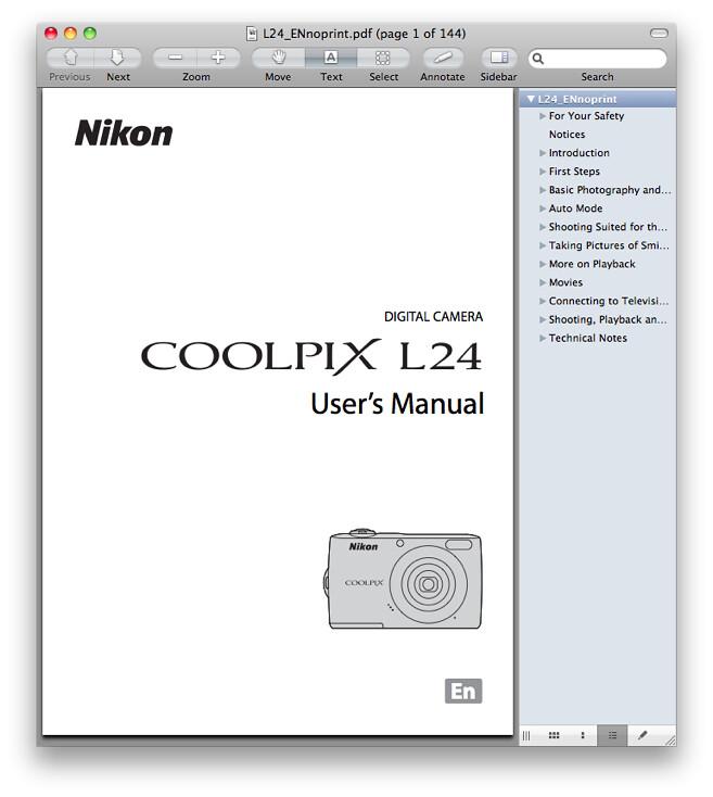 Nikon L24 Manual