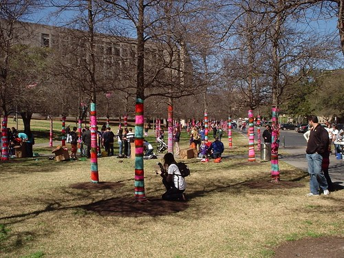 """A Knitted Wonderland"" at Explore UT"