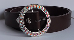 Womens Silver Belt Buckle (Interchangeable) with Crystal AB Swarovski Rhinestones Custom Made by Artisan AngelGrace (Angel Grace Jewelry, Womens Belt Buckles, Snap On ) Tags: ladies girls woman fashion metal silver women colorful crystal handmade unique oneofakind ooak ab snap womens waist round indie handcrafted iridescent accessories swarovski hip custom chanel rhinestone sparkly buckle tone embellished sparkling dior artisan northernlights auroraborealis stylish beltbuckle decorated accessory silvertone womans snapon removable changeable interchangeable flatback crystalab etsian angelgrace xchangeablescom xchangeables snaponoff angelgracedotetsydotcom xchangeablesdotcom