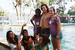 Nesh, Leah and Hatts dunked (Oatsandsugar) Tags: camp slr film wet pool university prank uts universityoftechnologysydney lawcamp minolta50mmf14 minoltadynax7xi iso400kodak utslss