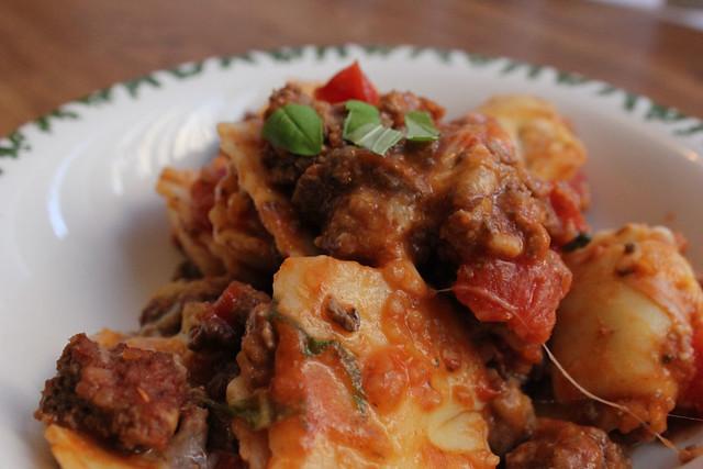 Baked Beef Ravioli