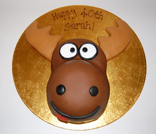 Excellent Moose Cake Beautiful Birthday Cakes Funny Birthday Cards Online Overcheapnameinfo
