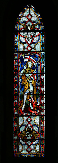 avon dassett hardman stained glass saint george