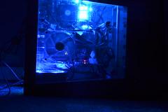 Blue LEDs (Hockeypuck55) Tags: longexposure blue computer computers led leds blueled computercase blueleds