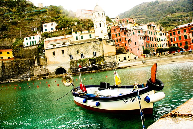 Vernazza 船與漁村
