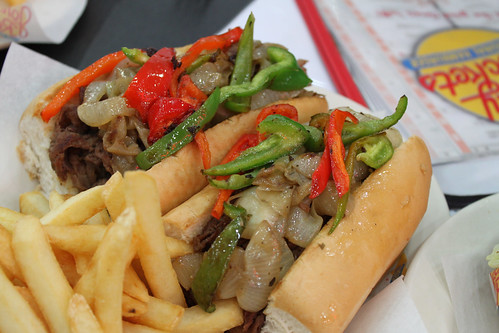 Philly Cheese Steak at Johnny Rockets