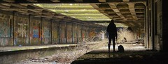 Urban Explorer (Bora Horza) Tags: old uk urban abandoned overgrown station gardens train underground botanical graffiti scotland unitedkingdom glasgow ruin dump railway forgotten urbanexploration rubbish vegetation botanic exploration derelict ruined urbex vandalised flickraward botanicgardenstrainstation flickraward5