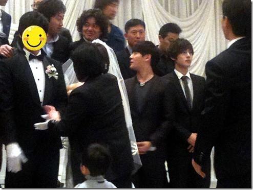 Kim Hyun Joong & Kim Junsu Attending a Wedding Ceremony [06.03.11]