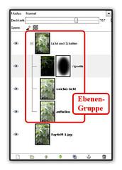 GIMP 2.8 - Ebenen gruppieren