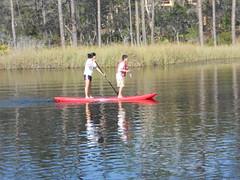 Paddling a Yolo on Western Lake at WaterColor Resort