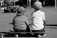 brothers (Wert2807) Tags: summer baby childhood d50 fun blackwhite nikon child skateboarding brothers russia happiness skateboard lovely novosibirsk sons friendsnip wert2807