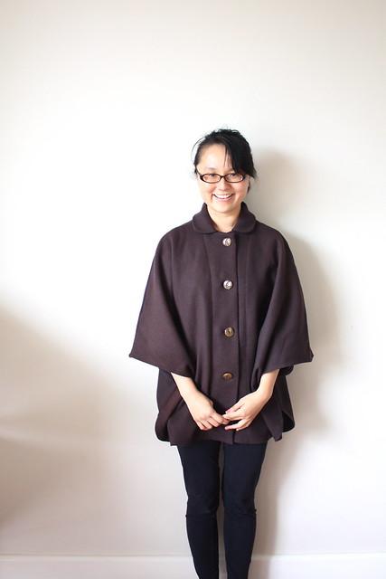 mum made me a cape/poncho