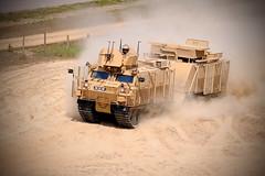 STK Warthog driving on sand