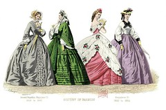 French Fashion Plate - 1848-1864 (CharmaineZoe) Tags: history fashion french costume 1800s