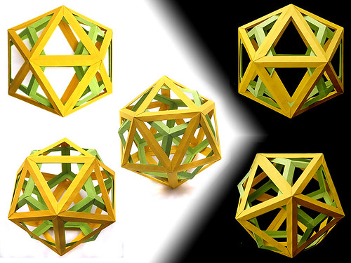 Woven Icosahedron and Dodecahedron