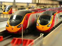 Model Trains (Stuart Axe) Tags: uk england london station train miniature fake shift rail railway trains virgin gb emu tilt railways euston virgintrains tiltshift pendolino electricmultipleunit wcml class390 fakeminiature tiltshifted servicetrain tiltshifter